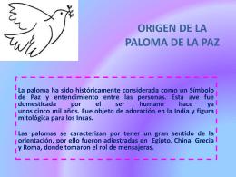 ORIGEN DE LA PALOMA DE LA PAZ