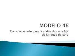 MODELO 46 - EOI DE MIRANDA DE EBRO
