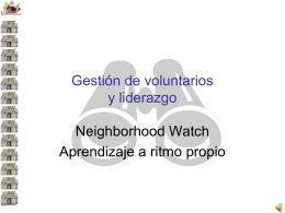 Volunteer Management SP - National Neighborhood Watch