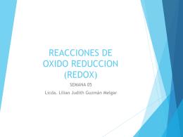 REACCIONES DE OXIDO REDUCCION (REDOX)