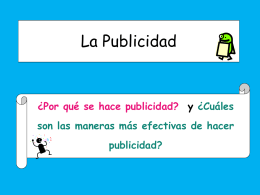 La Publicidad - Languages Resources