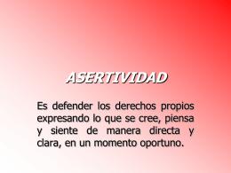 ASERTIVIDAD