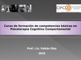 Diapositiva 1 - Centro Integral de Psicoterapias