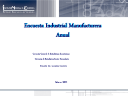 Encuesta Industrial Manufacturera Anual