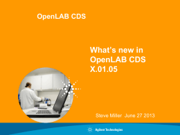 What's New in OpenLab CDS