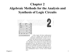 CSE 2341 Digital Logic Circuits