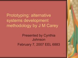 Prototyping: alternative systems development …