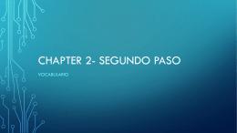 Chapter 2- SEGUNDO PASO