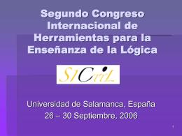 Segundo Congreso Internacional de Herramientas para la