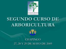 SEGUNDO CURSO DE ARBORICULTURA