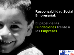 Responsabilidad Social Empresarial: El papel de las
