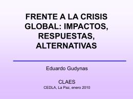 AMERICA DEL SUR FRENTE A LA CRISIS GLOBAL: …