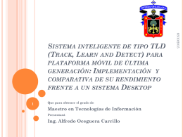 Sistema inteligente de tipo TLD (Track, Learn and Detect