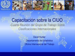Grupo de Trabajo sobre Clasificaciones Internacionales