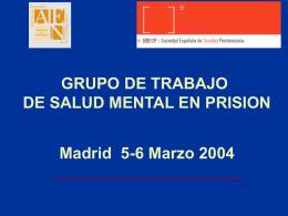 Calidad Asistencial Prisiones (CAPRI)