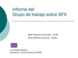 Informe del Grupo de trabajo sobre SFX