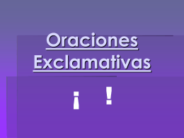 Oraciones Exclamativas