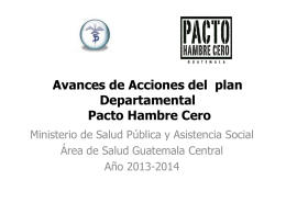 Avances de Acciones del plan Departamental Pacto …