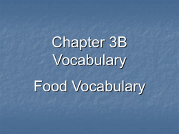 Chapter 3B Vocabulary