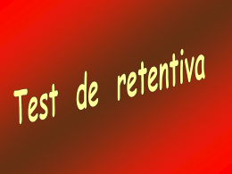 AG2- Test de retentiva