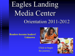 Eagles Landing Media Center - School District of Palm