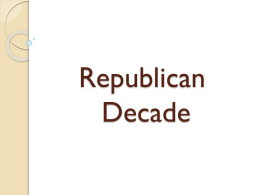 Republican Decade - Montgomery County Schools