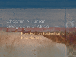 Chapter 19 Human Geography of Africa