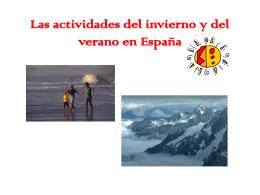 Las actividades del invierno y del verano en Espana