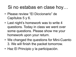 Si no estabas en clase hoy… - Columbia Community Unit