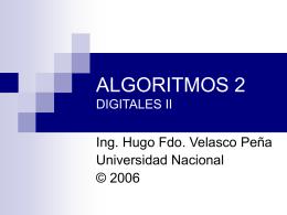 ALGORITMOS DIGITALES II - Universidad Nacional de …