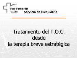 Tratamiento del T.O.C desde La terapia breve estrategica