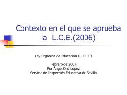 ESTUDIO DE LA L.O.E