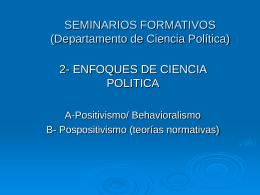 SEMINARIOS FORMATIVOS (Departamento de Ciencia …