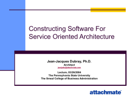 Constructing Software For Service Oriented Architecture