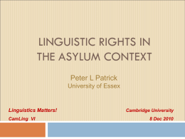 Sociolinguistic issues in Language Analysis for