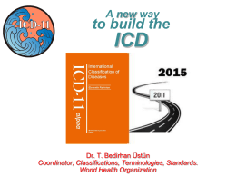 ICD-11 A new way to build the ICD ppt