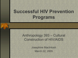 Successful HIV Prevention Programs