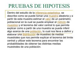 PRUEBAS DE HIPOTESIS - bioestadisticainferencial / …