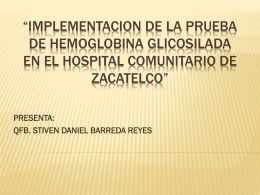 IMPLEMENTACION DE LA PRUEBA DE HEMOGLOBINA …