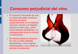 Consumo perjudicial del vino.