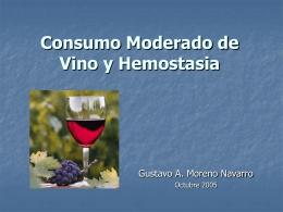 Consumo Moderado de Vino y Hemostasia