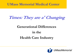 Generational Differences in the Health Care Industry