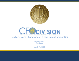 Endowment & Investment Accounting