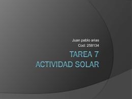 Tarea 7 actividad Solar