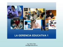 LA GERENCIA EDUCATIVA - didacticuss jimdo page!