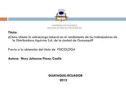 UNIVERSIDAD DE GUAYAQUIL FACULTAD DE CIENCIAS …