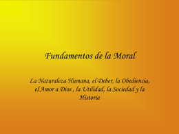 Fundamentos de la Moral - Asignatura filosofia 2007
