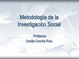 Metodologia - Trabajo Social UDLA