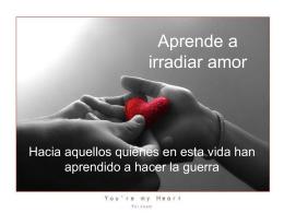 Aprende a irradiar amor