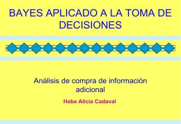 Bayes aplicado a la toma de decisiones